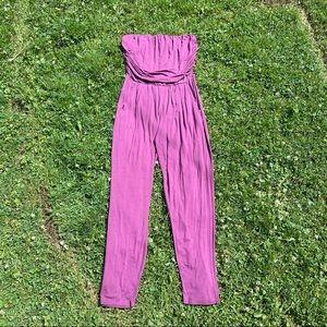 Joe boxer purple magenta strapless jumpsuit